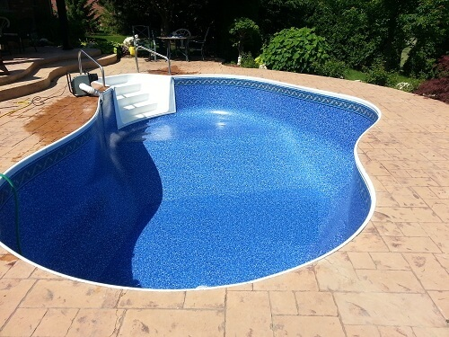 Photo of New Pool Liner Installed Photo