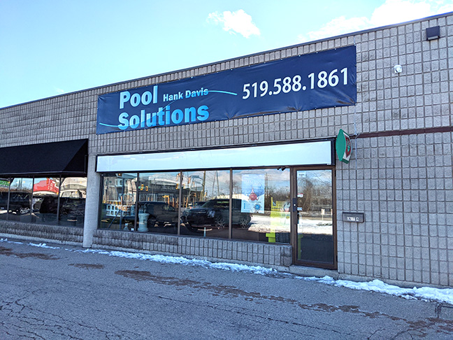 Exterior Photo of Pool Solutions Retail Store