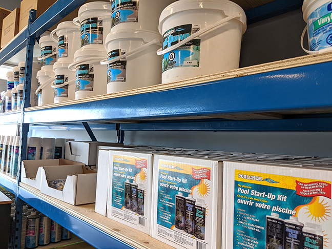 Photo of Store Shelf with Pool Supplies